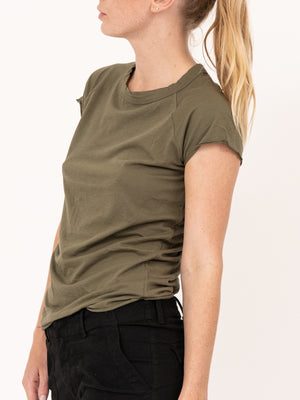 SHORT SLEEVE BASEBALL TEE IN ARMY