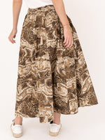 Cotton Maxi Skirt In Tigers Eye