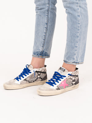 Sneakers Mid Star In Rock Snake Fuxia