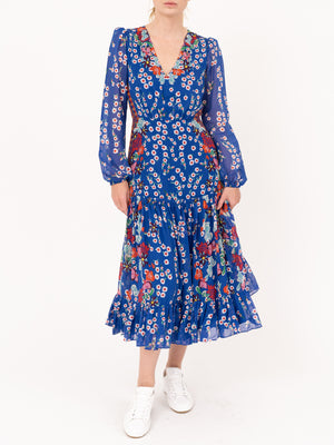 Devon Dress in Cobal Eden