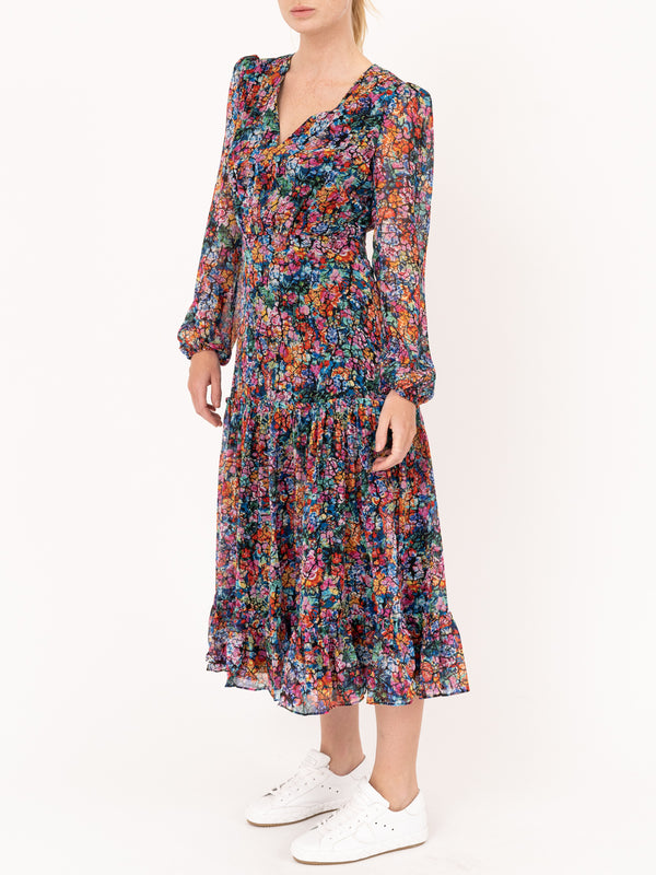 Devon Dress in Crackle Bloom