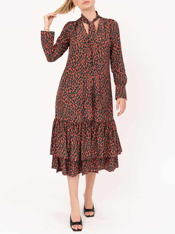 Good Witch Dress in Leopard Rosso