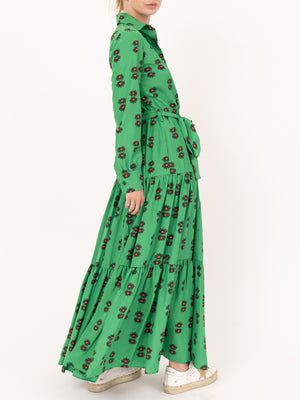Bellini Dress in Margherita Verde
