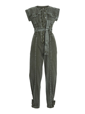Adair Jumpsuit in Army