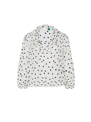 Alora Top - Polka Dot Burnout