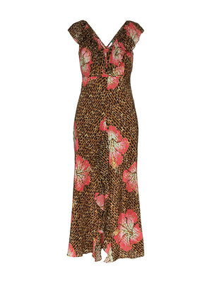 Antoinette Dress in Hawaii Giraffe