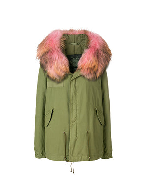 ARMY MINI PARKA IN PANTER PINK