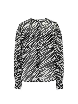 Arrow Shirt In Cream Zebra