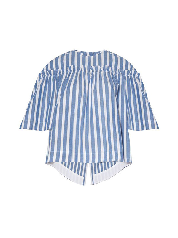 Top Ashley in Blue/White Stripes