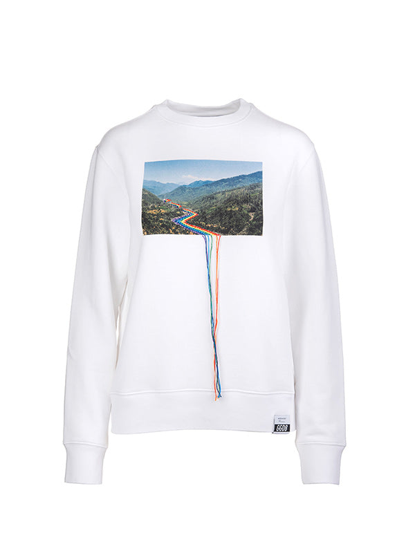 Golden Goose Athena Postcard Rainbow Sweatshirt