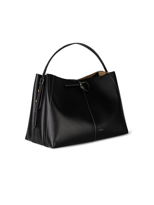 Wandler Ava Big Tote in Black/White Stitch
