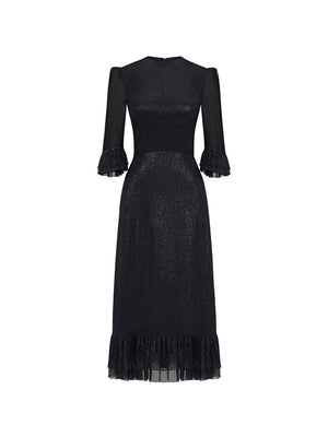 The Falconetti Dress in Liquorice