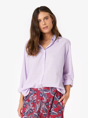 Xirena Beau Shirt in Lilac Quarry