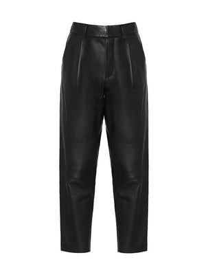 Becky Leather Trouser in Black