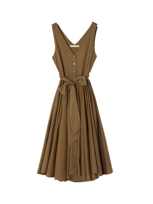 Bell Dress in Khaki