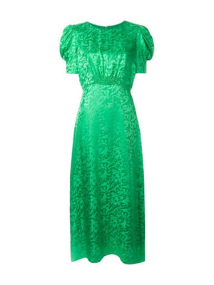 Bianca Dress in Leaf Green
