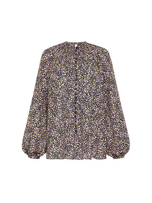 Blouson Button Blouse in Wild Primrose