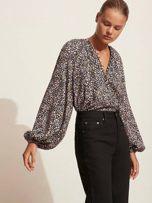 Matteau Blouson Button Blouse in Wild Primrose
