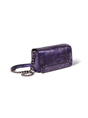 Bob cross-body bag in Lame Bleu