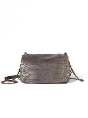 Bobi Bag in Croco Gris