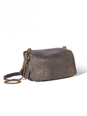 Jerome Dreyfuss Bobi Bag in Croco Gris