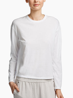 James Perse Boxy L/S Tee in White