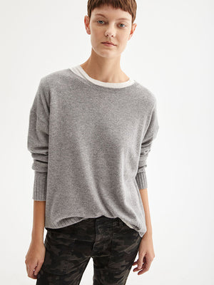 Nili Lotan Boyfriend Sweater In Heather Grey