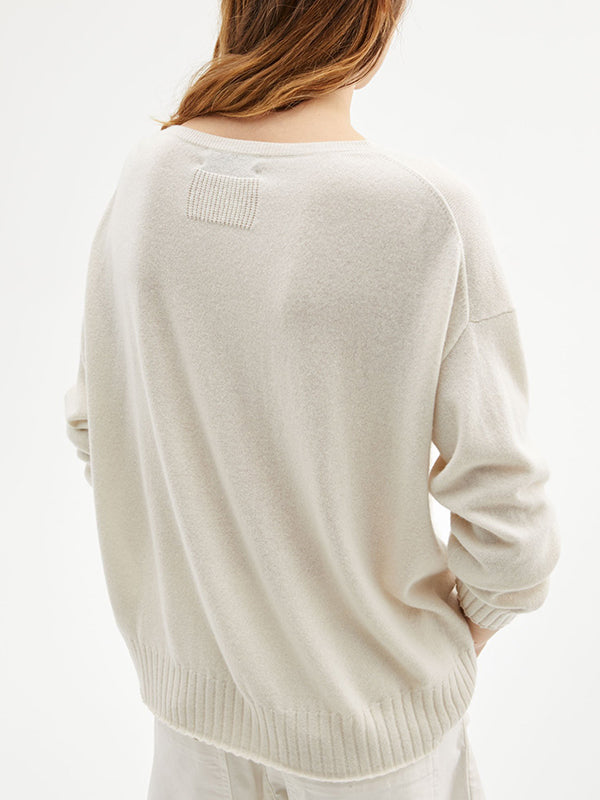 Nili Lotan Boyfriend Sweater In Ivory