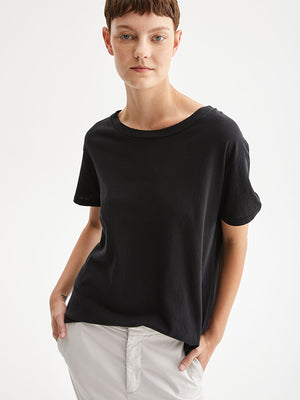 Nili Lotan Brady Tee in Washed Black