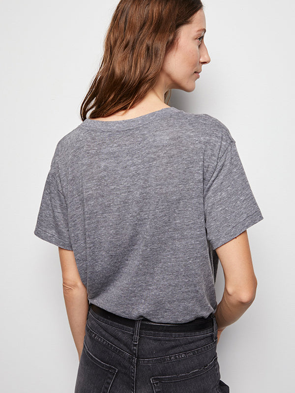 Nili Lotan Brady Tee in Heather Grey