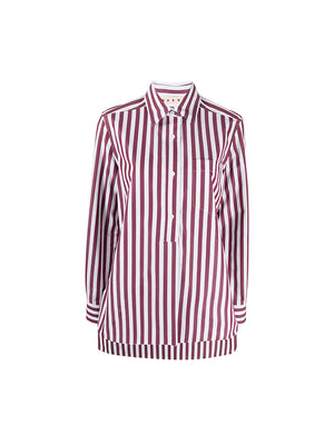 Polo Neck Blouse in Stripe