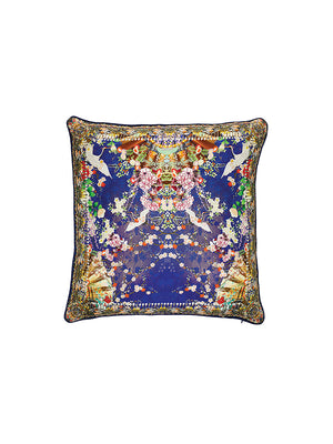 SMALL SQUARE CUSHION IN MAIKOS MIDNIGHT