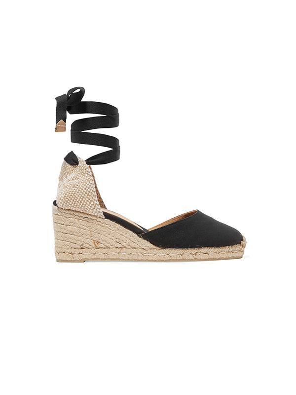 Carina 60 canvas wedge espadrilles in Negro