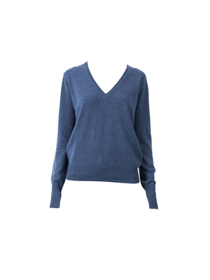 CASHMERE BOYFRIEND SWEATER IN NAVY