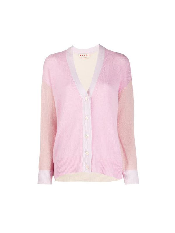 Marni Cashmere Cardigan in Light Pink