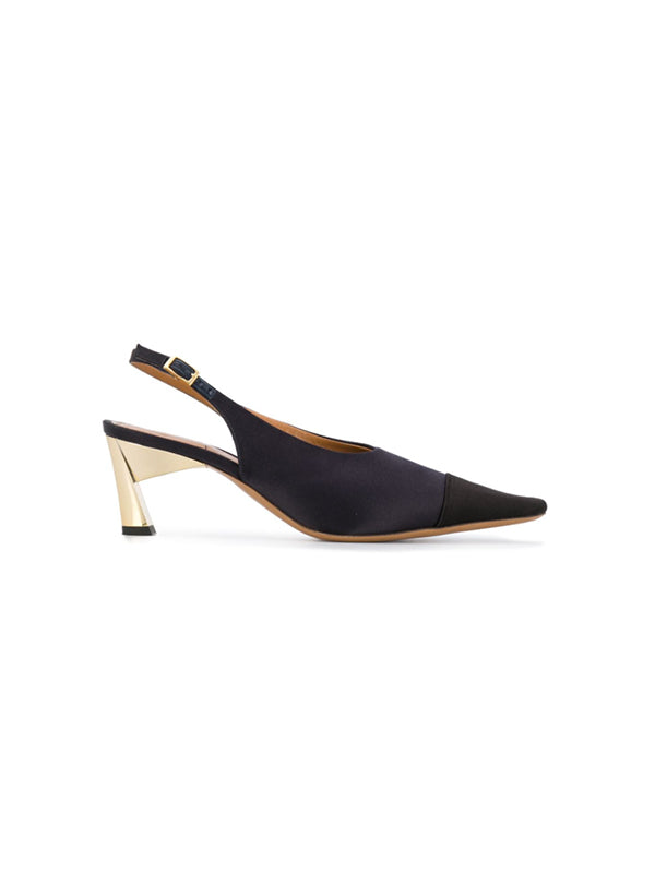 Marni Slingback Sandal in Black and Blue