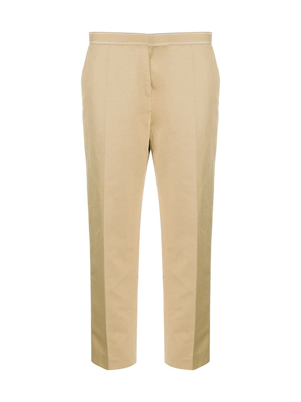 Cotton Linen Drill Trouser in Dijon