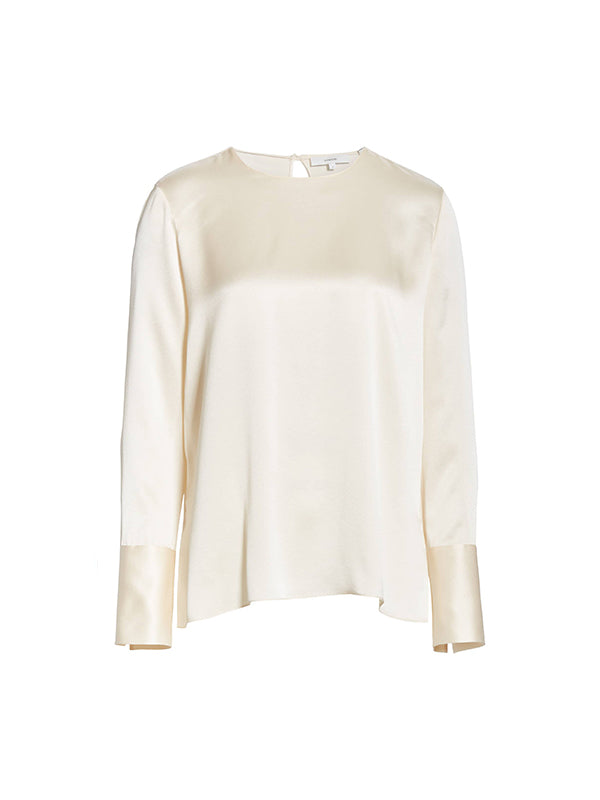 Crew Neck Blouse in Chiffon