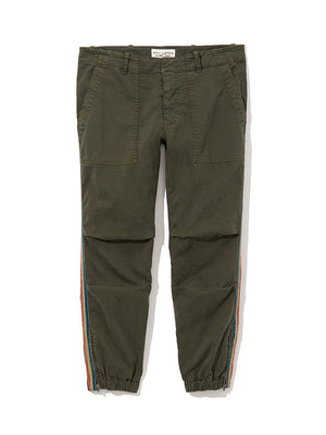 CROPPED FRENCH MILITARY PANT IN LODEN