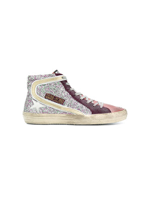 CYCLAMIN GLITTER SLIDE SNEAKERS