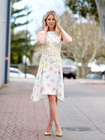 CADY DRESS IN FIG TREE WHITE
