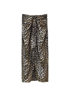 CALLA SILK SKIRT IN LEOPARD