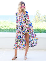 Camellia Dress In Droplet Daisy and Floral