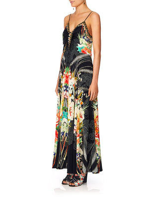 LONG DRESS W/ TIE FRONT IN QUEEN OF KINGS