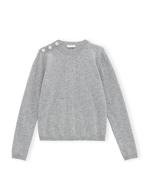 Cashmere Pullover Knit in Paloma Melange