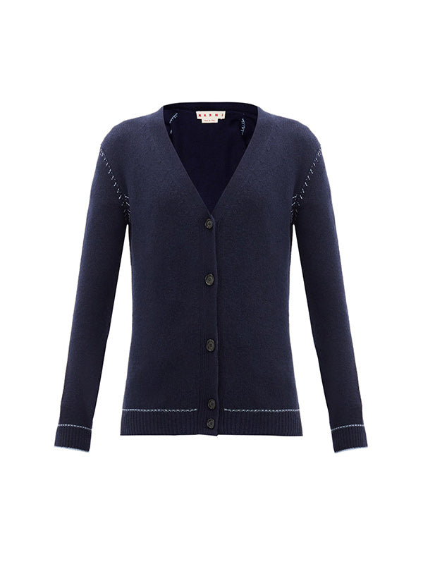 Marni Cashmere Cardigan in India Ink