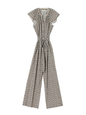 Cassi Jumpsuit in Chalk