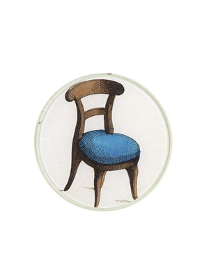 Chair Ilustration 5 3/4 Inch Deep Round