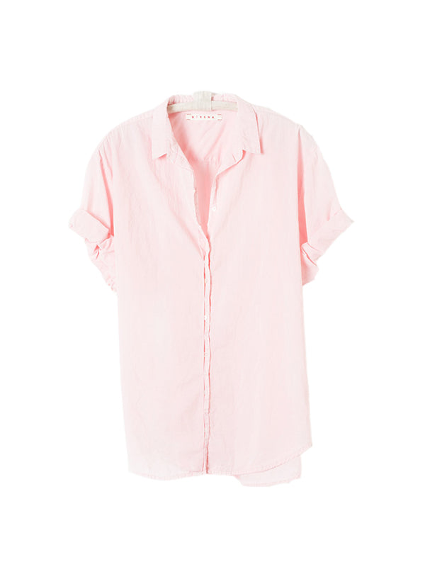 Xirena Channing Shirt in Coral Pink