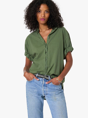 Xirena Channing Shirt in Olive Palm
